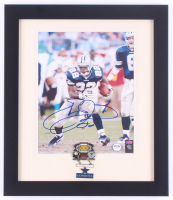 Emmitt Smith Signed Cowboys 13x15 Custom Framed Photo Display with Super Bowl XXX Champions Pin (PSA COA) at PristineAuction.com