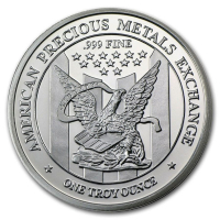 "1 Troy Ounce .999 Fine Silver ""APMEX"" Bullion Round at PristineAuction.com"