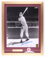 Ted Williams Signed Red Sox 19x26 Custom Framed Photo Display With Red Sox Pin (PSA LOA & Williams Hologram) at PristineAuction.com