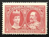 1908 MINT OG NH Quebec Tercentenary Issue Canadian 2 Cent Postal Stamp at PristineAuction.com
