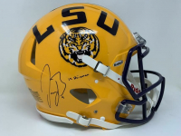 "Joe Burrow Signed LSU Tigers Full-Size Authentic On-Field Speed Helmet Inscribed ""19 Heisman"" (Fanatics Hologram) at PristineAuction.com"