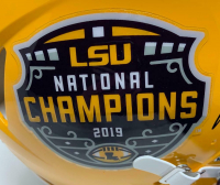"""Joe Burrow Signed LSU Tigers 2019 Champions Full-Size Authentic On-Field Speed Helmet Inscribed """"19 Champs"""" (Fanatics Hologram) at PristineAuction.com"""
