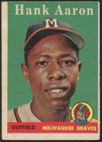 Hank Aaron 1958 Topps #30A at PristineAuction.com