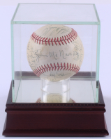 Red Sox 1986 World Series Baseball Signed By (24) With Wade Boggs, Roger Clemens, Bill Buckner With High Quality Display Case (PSA LOA) at PristineAuction.com