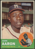 Hank Aaron 1963 Topps #390 at PristineAuction.com