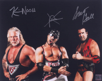 Kevin Nash, X-Pac & Scott Hall Signed 16x20 Photo (Playball Ink Hologram) at PristineAuction.com