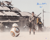 """Daisy Ridley Signed """"Star Wars: The Force Awakens"""" 16x20 Photo Inscribed """"Rey"""" (PSA COA) at PristineAuction.com"""