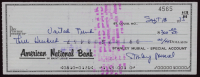 Stan Musial Signed Personal Bank Check (JSA COA) at PristineAuction.com
