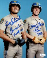 "Erik Estrada & Larry Wilcox Signed ""CHiPs"" 8x10 Photo Insribed ""Jon"", ""Ponch"", ""7-M-4"" & ""7M3"" (JSA COA) at PristineAuction.com"