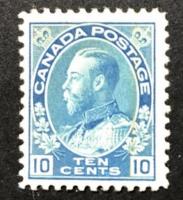 Vintage 1922 King George V Ten Cent Canada Postage Stamp Scott #117 at PristineAuction.com
