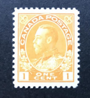 Vintage 1922 King George V One Cent Canada Postage Stamp Scott #105 at PristineAuction.com