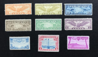 Lot of (9) Vintage 1926-1952 Airmail United States Postage Stamps with #C7 (LH), #C8 (NH), #C9 (NH), #C11 (NH), #C12 (VLH), #C17 (NH), #C19 (NH), #C20 (NH) & #C46 (NH) at PristineAuction.com