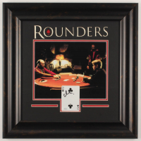 "Matt Damon Signed ""Rounders"" 18x18.5 Custom Framed Card Display (JSA COA) at PristineAuction.com"