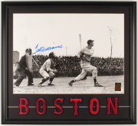 Ted Williams Signed Red Sox 21x23 Custom Framed Photo Display With Red Sox Patch (PSA LOA & Williams Hologram) at PristineAuction.com