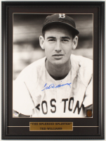 Ted Williams Signed Red Sox 18.5x24.5 Custom Framed Photo Display (PSA LOA & Williams Hologram) at PristineAuction.com