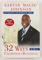 "Magic Johnson Signed ""32 Ways To Be A Champion In Business"" Hardcover Book (JSA COA) at PristineAuction.com"