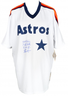 Nolan Ryan Signed Astros Majestic Jersey With Multiple Inscriptions (Beckett COA) at PristineAuction.com