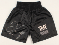 Floyd Mayweather Jr. Signed LE Career Highlight Boxing Shorts (Beckett COA) at PristineAuction.com