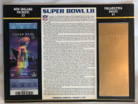 Super Bowl LII Commemorative Score Card with 22kt Gold Ticket at PristineAuction.com