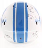 Barry Sanders Signed Lions Full-Size Matte White Speed Helmet with (7) Career Inscriptions (Schwartz COA) at PristineAuction.com