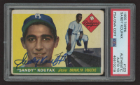 Sandy Koufax Signed 1955 Topps #123 RC (PSA Encapsulated) at PristineAuction.com