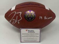 "Joe Burrow Signed LSU Tigers Logo Football Inscribed ""19 Heisman"" (Fanatics Hologram) at PristineAuction.com"