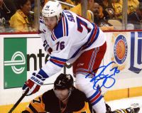 Brady Skjei Signed Rangers 8x10 Photo (JAG COA) at PristineAuction.com