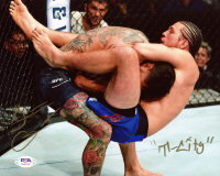 "Brian Ortega Signed UFC 8x10 Photo Inscribed ""T-City"" (PSA COA) at PristineAuction.com"