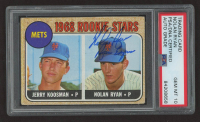 """Nolan Ryan Signed 1968 Topps #177 Rookie Stars RC Inscribed """"Ryan Express"""" (PSA Encapsulated) at PristineAuction.com"""