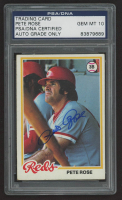 Pete Rose Signed 1978 Topps #20 (PSA Encapsulated) at PristineAuction.com