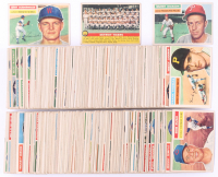 1956 Topps Complete Set of (340) Baseball Cards with #5 Ted Williams, #30 Jackie Robinson, #79 Sandy Koufax, #292 Luis Aparicio RC, #130 Willie Mays, #31 Hank Aaron, #33 Roberto Clemente, #135 Mickey Mantle at PristineAuction.com