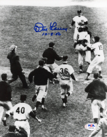 "Don Larsen Signed Yankees 8x10 Photo Inscribed ""10-8-56"" (PSA COA) at PristineAuction.com"