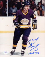 "Marcel Dionne Signed Kings 8x10 Photo Inscribed ""HOF 92"" (PSA COA) at PristineAuction.com"