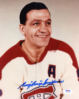 "Bernie ""Boom Boom"" Geoffrion Signed 	Canadiens 8x10 Photo (PSA COA) at PristineAuction.com"