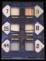 2019 ITG Used Sports Franchise Favorites Memorabilia Navy Blue #FRF06 Mickey Mantle / Babe Ruth / Thurman Munson / Yogi Berra / Reggie Jackson / Derek Jeter at PristineAuction.com
