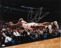Dennis Rodman Signed Bulls 16x20 Photo (Beckett Hologram) at PristineAuction.com