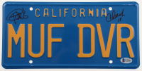 "Cheech Marin & Tommy Chong Signed ""Up in Smoke"" License Plate (Beckett COA) at PristineAuction.com"