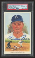 Pee Wee Reese Signed 1989 Perez-Steele Hall of Fame Postcards #34 (PSA Encapsulated) at PristineAuction.com