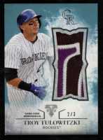 Troy Tulowitzki 2015 Topps Triple Threads Unity Relics Sapphire #UJRTT at PristineAuction.com