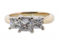 .84ct Princess Diamond Engagement Ring 14kt Gold (GAL Certified) at PristineAuction.com