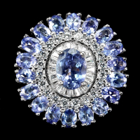 5.00ct Tanzanite Halo Ring (GAL Certified) at PristineAuction.com