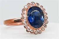 3.35ct Sapphire & Diamond Ring (GAL Certified) at PristineAuction.com