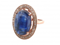 15.40ct Sapphire & Diamond Ring (GAL Certified) at PristineAuction.com