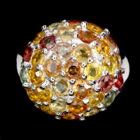 5.50ct Multi-Colored Sapphire Ring (GAL Certified) at PristineAuction.com