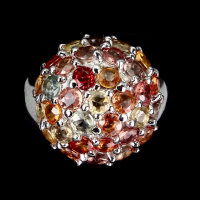 6.00ct Multi-Colored Sapphire Ring (GAL Certified) at PristineAuction.com