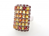 6.00ct Multi-Colored Sapphire & Garnet Ring (GAL Certified) at PristineAuction.com