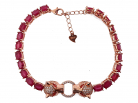 15.20ct Ruby Cartier Style Panther Bracelet (GAL Certified) at PristineAuction.com