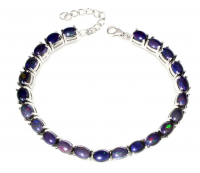 27.00ct Black Opal Tennis Bracelet (GAL Certified) at PristineAuction.com