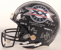 """1985 Chicago Bears Super Bowl XX Logo Full-Size Authentic On-Field Helmet Team-Signed by (31) with Mike Ditka, Dan Hampton, Mike Singletary, Richard Dent Inscribed """"MVP XX"""" & """"S.B. XX"""" (Schwartz COA) at PristineAuction.com"""