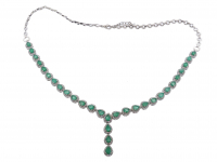 12.00ct Emerald Necklace (GAL Certified) at PristineAuction.com